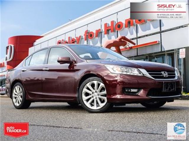 2015 HONDA Accord Touring V6 - 1 Owner, No Reported Accident in Thornhill, Ontario