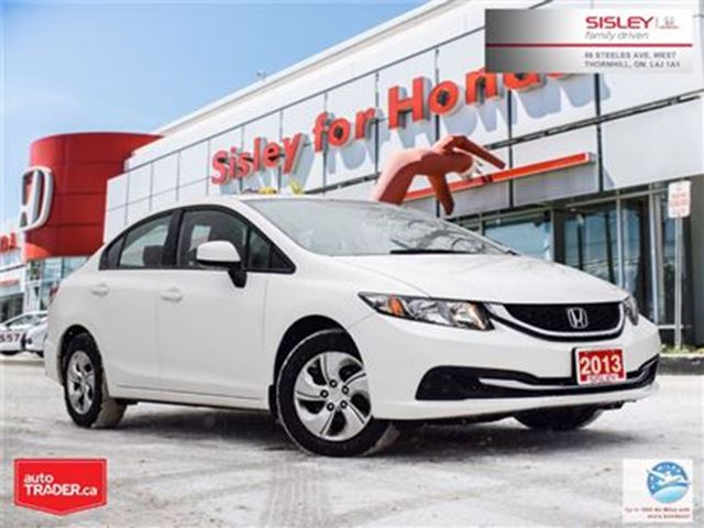 2013 HONDA Civic LX (A5) - 1 Owner, No Accident in Thornhill, Ontario