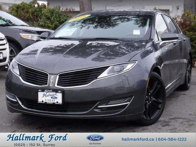 2016 LINCOLN MKZ Select AWD EcoBoost w Tech Pkg, Leather, Roof in Surrey, British Columbia