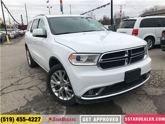 2016 DODGE DURANGO Limited   ONE OWNER   LEATHER   ROOF   AWD   CAM in London, Ontario