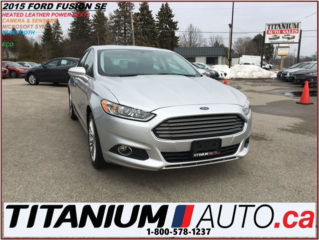 2015 FORD Fusion Luxury+GPS+Camera+Heated Leather+Remote Start+B.T. in London, Ontario