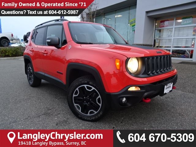2016 JEEP RENEGADE Trailhawk *ACCIDENT FREE*ONE OWNER*LOCAL BC TRAILHAWK* in Surrey, British Columbia