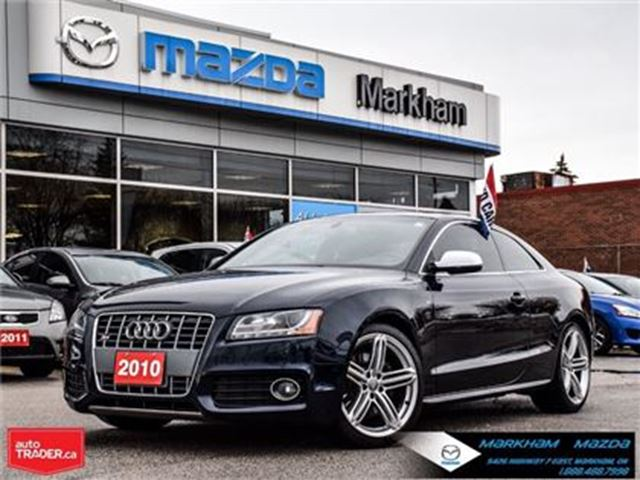 2010 AUDI S5 4.2L (A6) ACCIDENT FREE LEATHER NAVI MOONROOF in Markham, Ontario