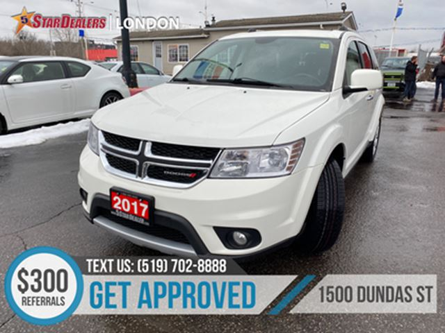 2017 DODGE JOURNEY GT   ONE OWNER   LEATHER   AWD   7PASS   REAR AIR in London, Ontario