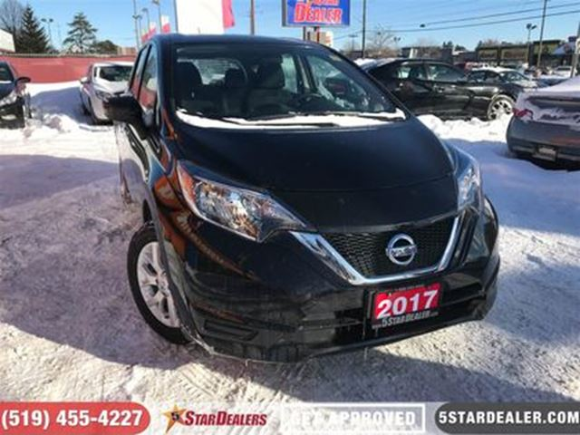 2017 NISSAN VERSA 1.6 SV   ONE OWNER   CAM   HEATED SEATS in London, Ontario