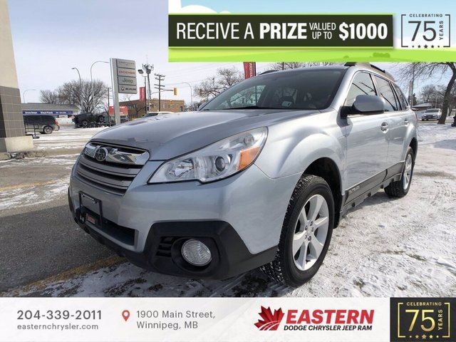 2014 SUBARU OUTBACK 2.5i AWD 174 HP FM/AM RADIO PWR GRP *MINT* in Winnipeg, Manitoba