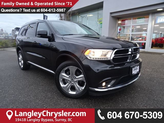 2015 DODGE Durango Limited *LOCAL BC CAR* LOW KMS*DEALER INSPECTED* in Surrey, British Columbia