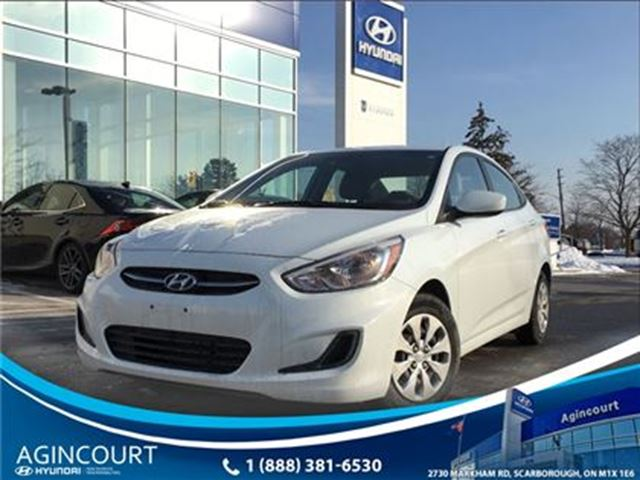 2016 HYUNDAI Accent GL/HEATED SEATS/BLUETOOTH/OFF LEASE/16655KMS in Toronto, Ontario