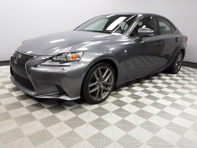2014 LEXUS IS 350 F Sport Series 3 - Local One Owner Trade In | No Accidents | Navigation | Back Up Camera | Power Sunroof | Rear Sunshade | Heated Seats | Heated Steering Wheel | Dual Zone Climate Control with AC | 18 Inch F Sport Wheels | Bluetooth | Radar Cruise Co in Edmonton, Alberta