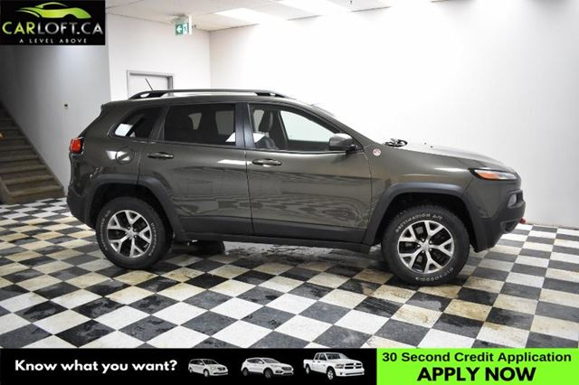 2015 JEEP CHEROKEE Trailhawk 4WD- LEATHER * BACKUP CAM *UCONNECT in Kingston, Ontario