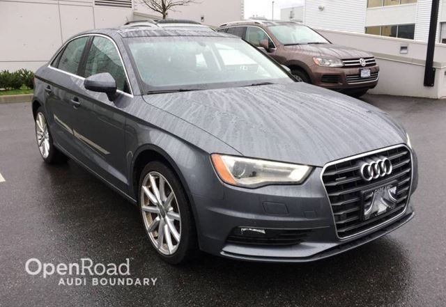 2015 AUDI A3 4dr Sdn quattro 2.0T Technik NAVIGATION in Vancouver, British Columbia