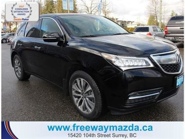 2016 ACURA MDX Tech PKG-4 BRAND NEW TIRES/SUN/HEATSEAT/LEATHER in Surrey, British Columbia