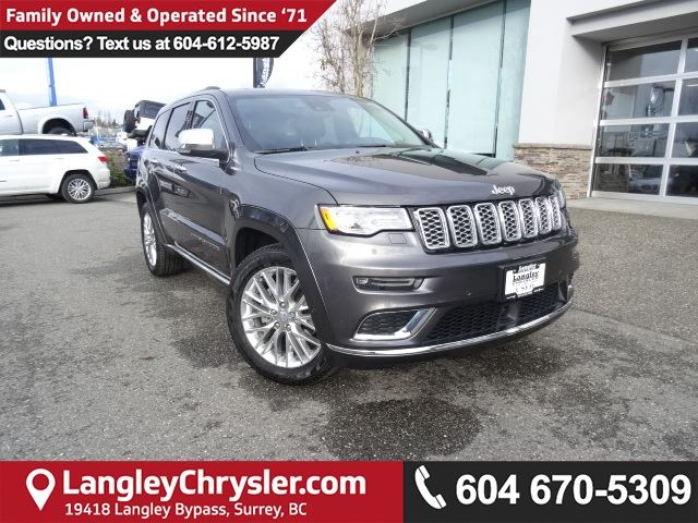 2017 JEEP GRAND CHEROKEE Summit *ACCIDENT FREE * LOCAL BC SUV* in Surrey, British Columbia