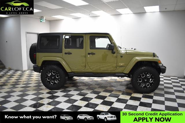 2013 JEEP WRANGLER Unlimited Sahara 4x4-UCONNECT*HEATED SEATS*SOFT & HARDTOP in Kingston, Ontario