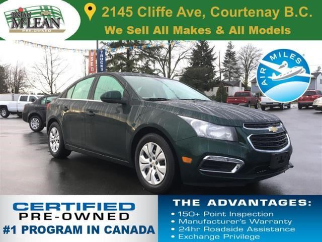 2015 CHEVROLET CRUZE 1LT in Courtenay, British Columbia