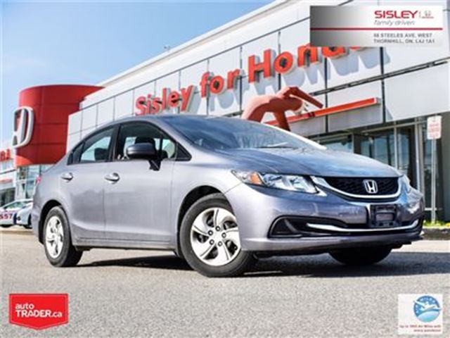 2015 HONDA Civic LX - No Accident, 1 Owner, Excellent Condition in Thornhill, Ontario
