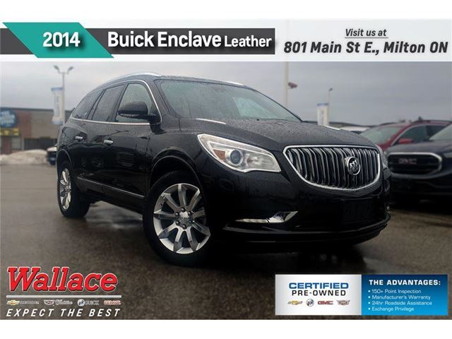 2014 BUICK ENCLAVE LEATHER/MOONROOF/HTD SEATS/REAR CAM/NAV/20s/BOSE in Milton, Ontario