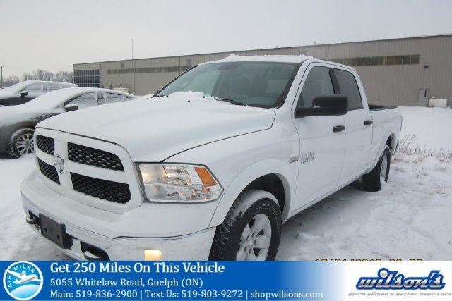 2017 DODGE RAM 1500 OUTDOORSMAN 4X4 CREW CAB! BED LINER! PWR SEAT! CRUISE CONTROL! POWER PACKAGE! 17 ALLOYS! TRUCK in Guelph, Ontario