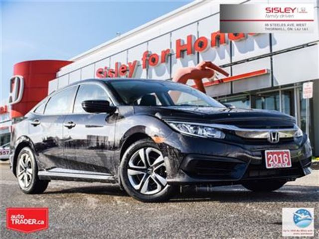 2016 HONDA Civic LX - Car Proof Clean, 1 Owner in Thornhill, Ontario