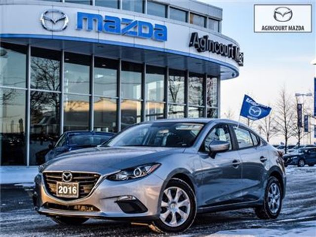 2016 MAZDA MAZDA3 GX-CONV PKG-BACK UP, BLUETOOTH, PUSH START, LOW KM in Scarborough, Ontario