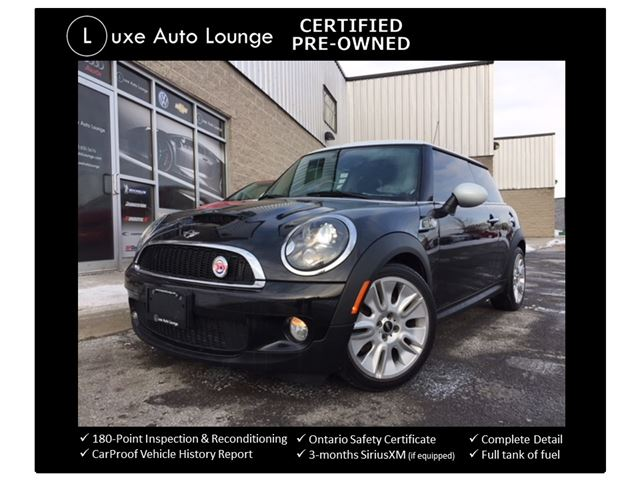 2010 MINI COOPER S Camden Edition RARE!! BALANCE OF FULL WARRANTY UNTIL JULY-2018 OR 115,000KM!! AUTO, PANORAMIC SUNROOF, HEATED SEATS, HARMAN KARDON STEREO!! in Orleans, Ontario