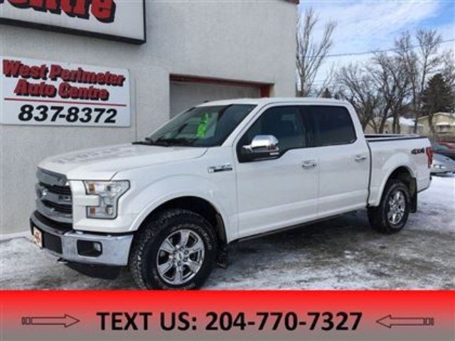2016 FORD F-150 Lariat **Navigation**Sunroof** Leather** in Winnipeg, Manitoba