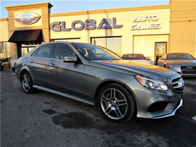 2014 MERCEDES-BENZ E550 4MATIC Sedan AMG PKG. NAVIGATION, PANOR. ROOF in Ottawa, Ontario