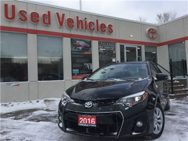 2016 TOYOTA Corolla S- B.TOOTH, B.CAM, FOG LIGHTS, HEATED SEATS in Toronto, Ontario