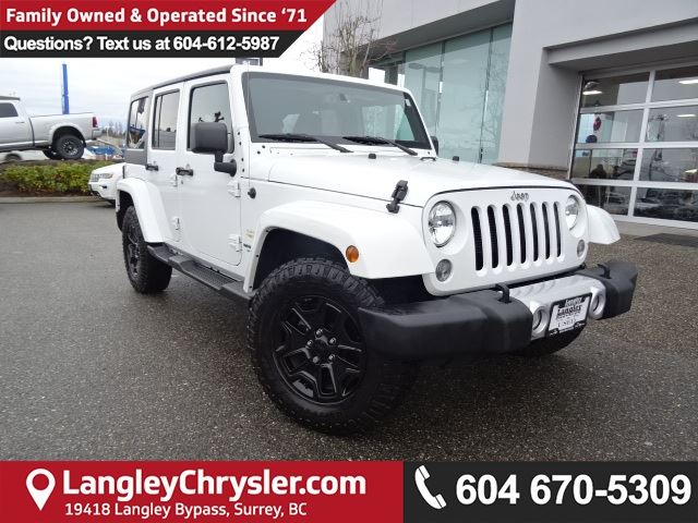 2015 JEEP WRANGLER Unlimited Sahara *ACCIDENT FREE * LOCAL BC JEEP * in Surrey, British Columbia