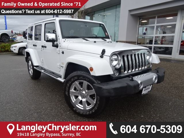 2015 JEEP WRANGLER Unlimited Sahara *ACCIDENT FREE * LOCAL BC JEEP* in Surrey, British Columbia