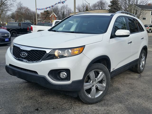 2012 Kia Sorento EX Lux,ALL-WHEEL-DRIVE,HEATED LEATHER,6-WAY POWER SEAT,PANORAMIC SUNROOF,BACK-UP CAMARA,PUSH BUTTON START in Dunnville, Ontario