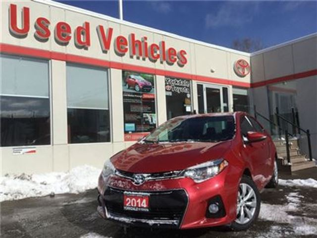 2014 TOYOTA Corolla S- BLUETOOTH, BACKUPCAM, HEATED SEATS, POWER WINDO in Toronto, Ontario