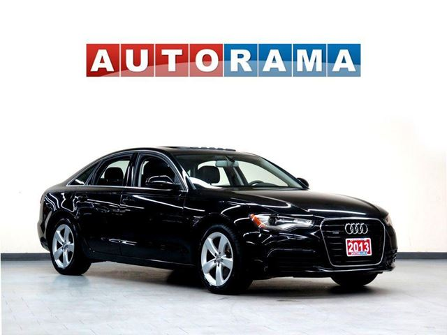 2013 Audi A6 NAVIGATION LEATHER SUNROOF BACKUP SENSORS 4WD in North York, Ontario