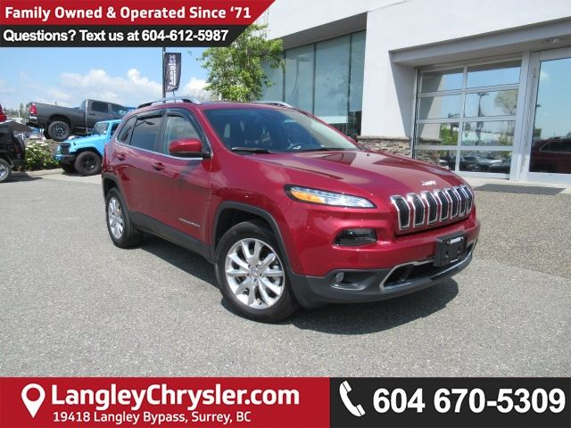 2017 JEEP CHEROKEE Limited in Surrey, British Columbia