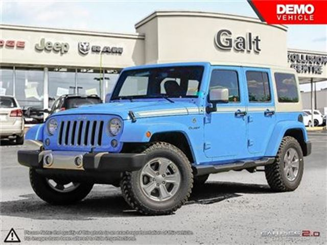 2017 JEEP WRANGLER Unlimited CHIEF 4X4 DEMO   6.5TOUCH NAV REMOTE START LEATHER in Cambridge, Ontario