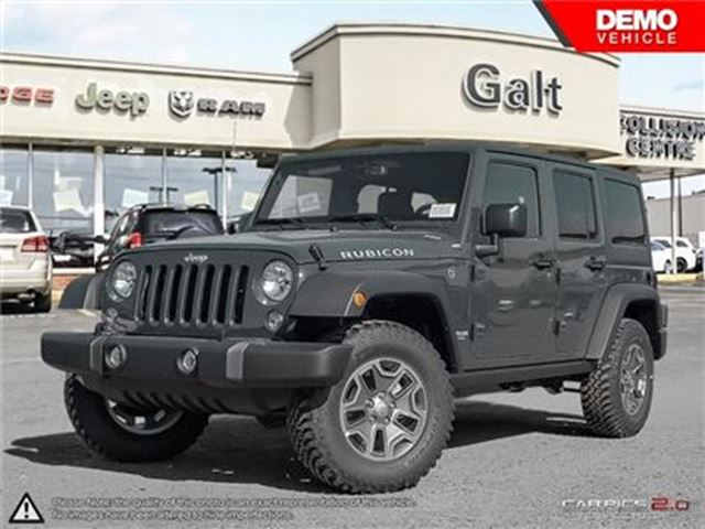 2017 JEEP WRANGLER Unlimited RUBICON 4X4 DEMO   NAV TOW GRP LEATHER HEATED SEAT in Cambridge, Ontario