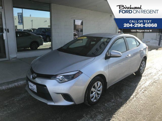 2016 TOYOTA COROLLA LE *Heated Seats/Back Up Camera/Bluetooth* in Winnipeg, Manitoba