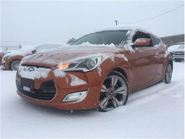 2012 HYUNDAI VELOSTER LEATHER/CLOTH INTERIOR NAV MOONROOF in St Catharines, Ontario