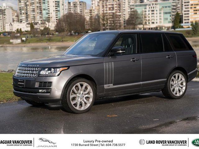 2016 LAND ROVER RANGE ROVER V8 Supercharged LWB in Vancouver, British Columbia