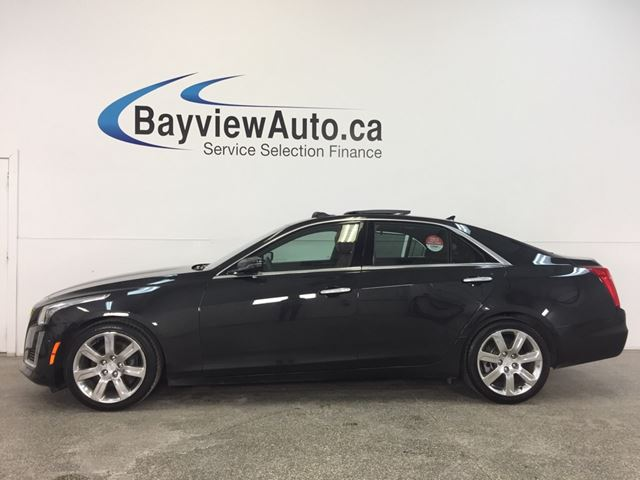 2014 CADILLAC CTS - 3.6L|AWD|REM STRT|PANOROOF|HTD LTHR|NAV|BSA|ACC! in Belleville, Ontario
