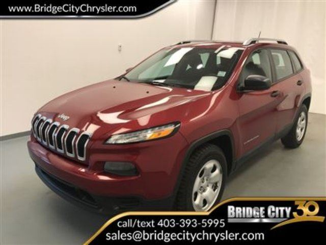 2015 JEEP CHEROKEE Sport 4x4- V6, Heated Seats, Trailer Tow! in Lethbridge, Alberta