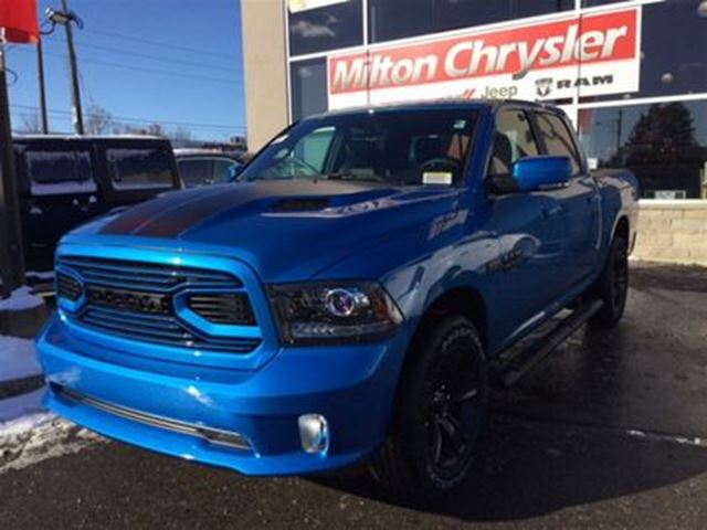 2018 dodge ram 1500 hydro blue sport rambox milton ontario car for sale 2981056. Black Bedroom Furniture Sets. Home Design Ideas