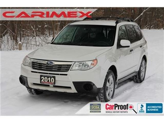 2010 SUBARU FORESTER 2.5 X Heated Seats   Power Seats   CERTIFIED in Kitchener, Ontario