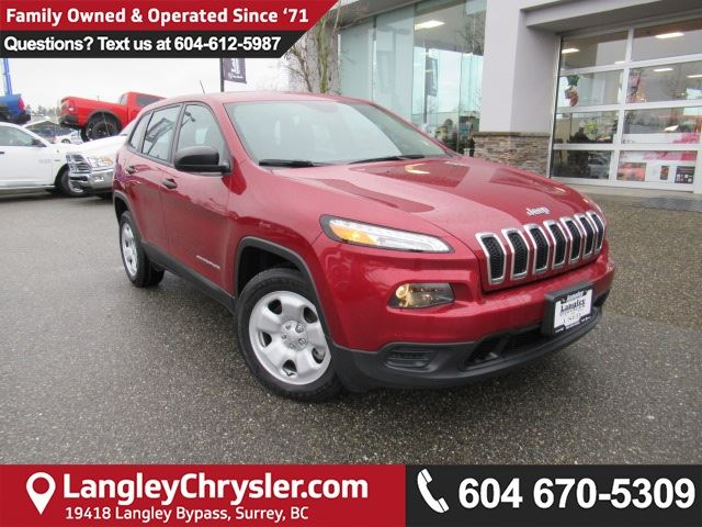 2017 JEEP CHEROKEE Sport <B>2017 CLEAROUT!!*5.0TOUCHSCREEN*BLUETOOTH*<b> in Surrey, British Columbia