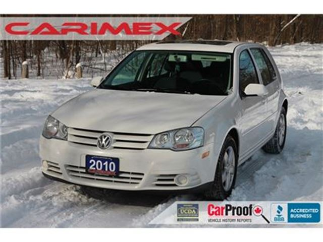 2010 VOLKSWAGEN CITY GOLF 2.0L Sunroof   Heated Seats   LOW KMs   CERTIFIED in Kitchener, Ontario
