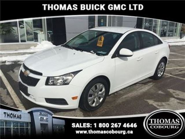 2014 CHEVROLET CRUZE 1LT - $90.35 B/W - Low Mileage in Cobourg, Ontario