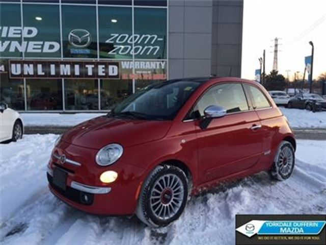2012 FIAT 500 Lounge / LEATHER / SUNROOF /  ONLY 74K!!! in Toronto, Ontario