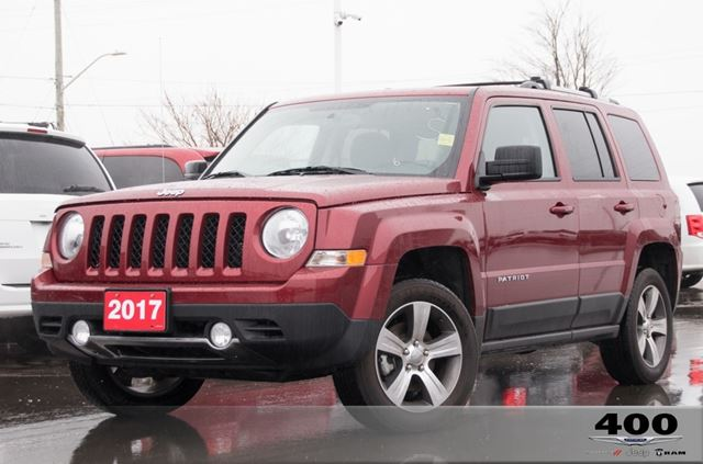 2017 JEEP Patriot **HIGHALTITUDE**LEATHER**SUNROOF**5INSCREEN**LOWKM in Innisfil, Ontario