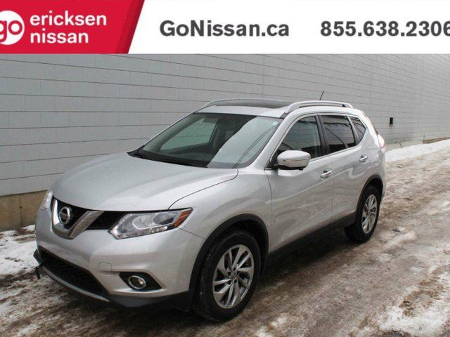 2015 Nissan Rogue SL: LEATHER, NAVIGATION, PANORAMIC SUNROOF in Edmonton, Alberta
