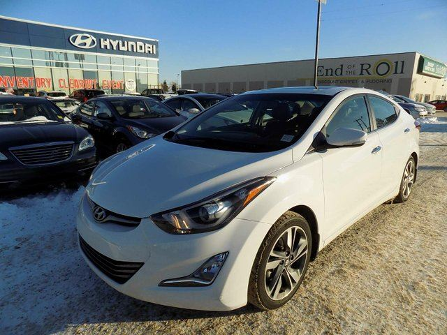 2014 Hyundai Elantra NAV/LEATHER/ROOF/HEATED SEATS in Edmonton, Alberta